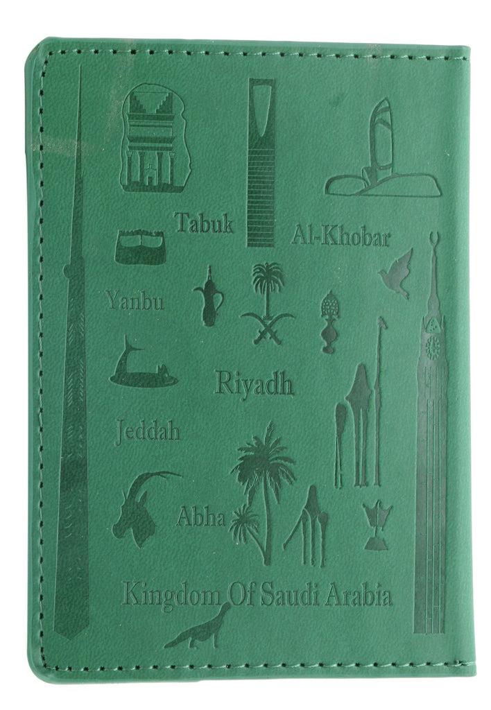 KSA Landmarks Saudi Passport Cover T2 - Dark Green
