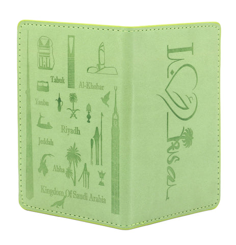 KSA Landmarks Saudi Passport Cover T2 - Light Green