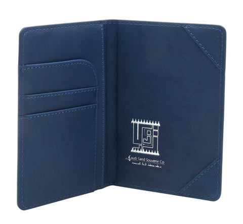 KSA Landmarks Saudi Passport Cover T2 - Navy Blue