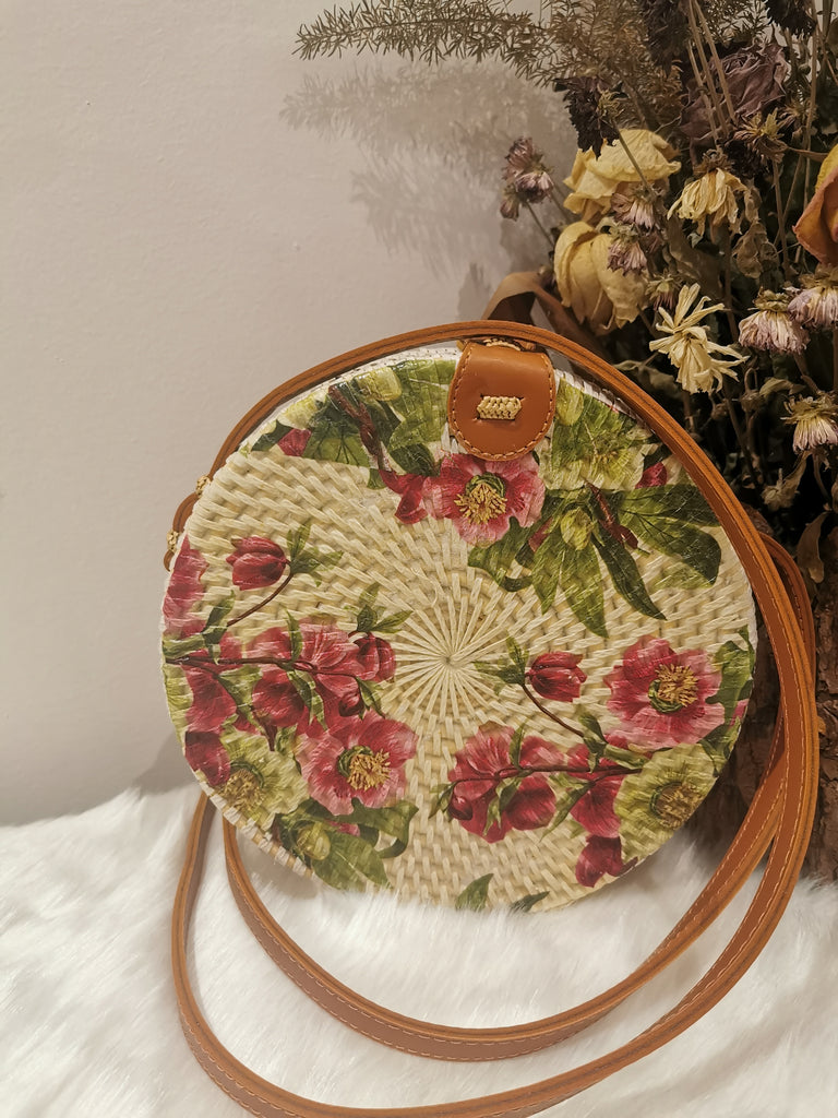 Floral Hand Painted Boho Bag