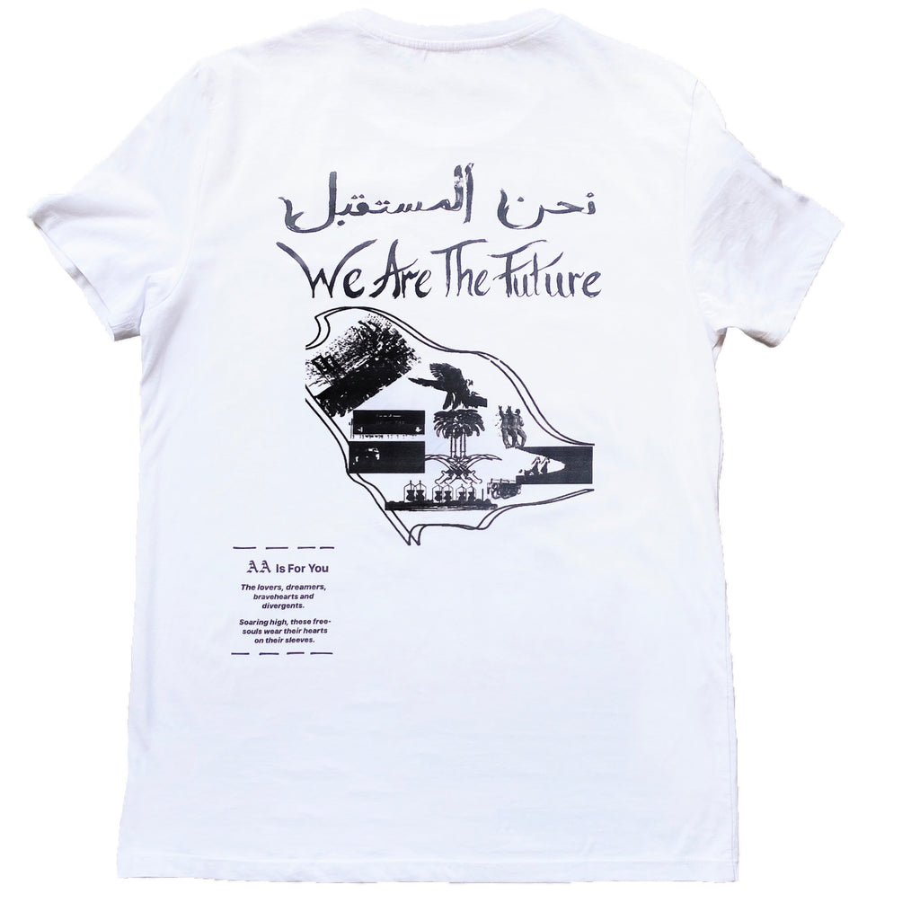 White & Black 2030 Vision T-shirt X Anonymous