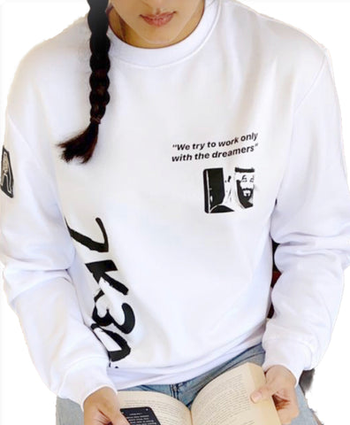 White & Black 2030 Vision Sweater X Anonymous