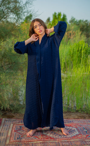 Navy Lofty Short Slv Abaya