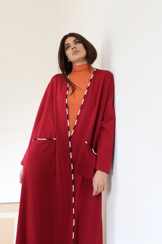 SOUS ABAYA ( BURGUNDY COLOR )