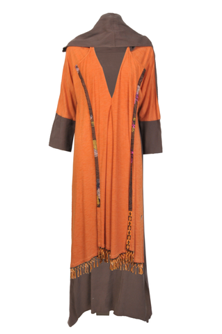 Orange & Brown Abaya