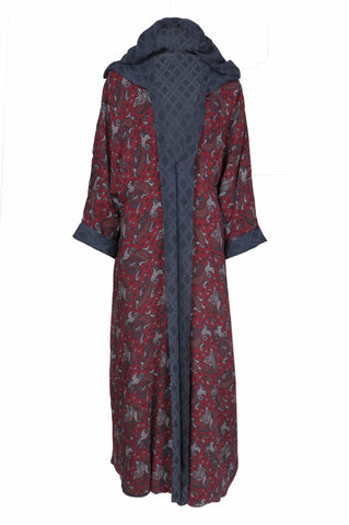 Abaya Red Double Sided