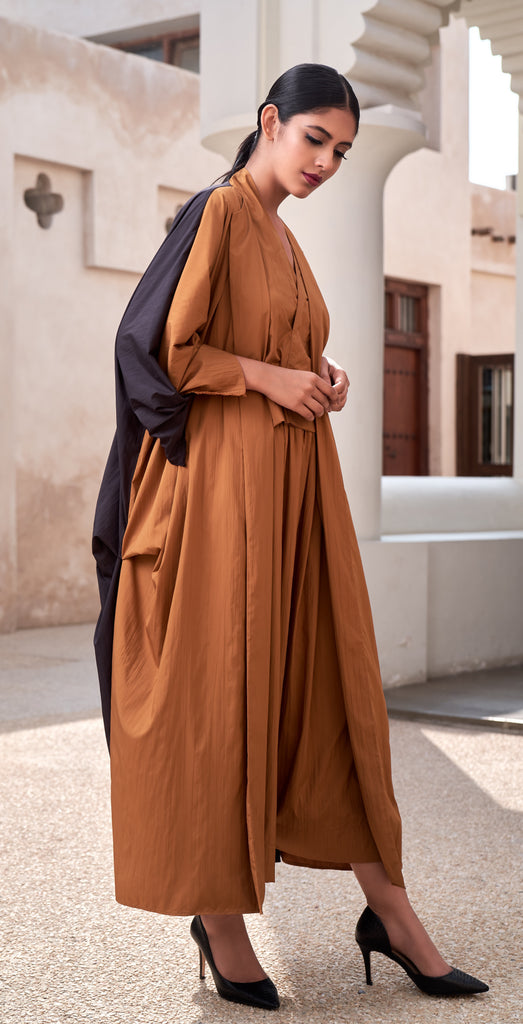 """Open Abaya with Hand Tie Up Detail"""