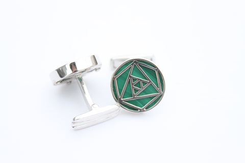 """Malachite Men Cufflinks"""