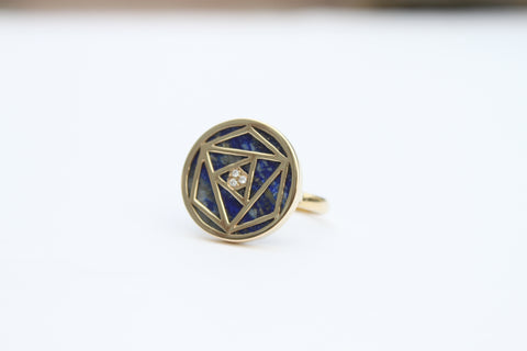 """Lappis Geometric Rose Ring"""