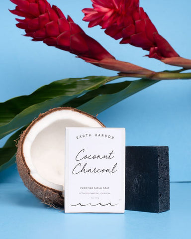 COCONUT CHARCOAL Purifying Facial Soap.