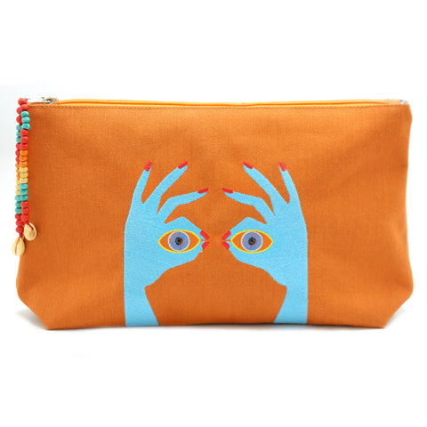 """Under the sun Orange"" Beach Pouch"