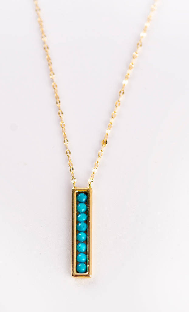 Turquoise & Gold Necklace Design I