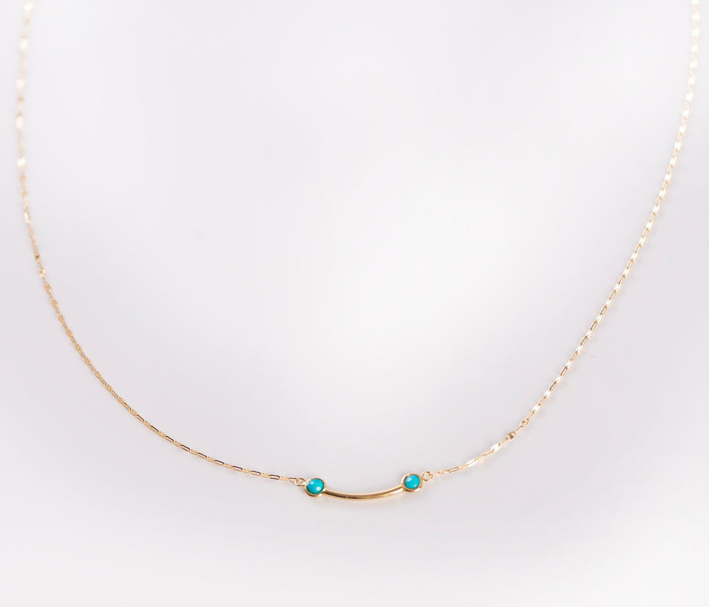 Turquoise & Gold Necklace Design II