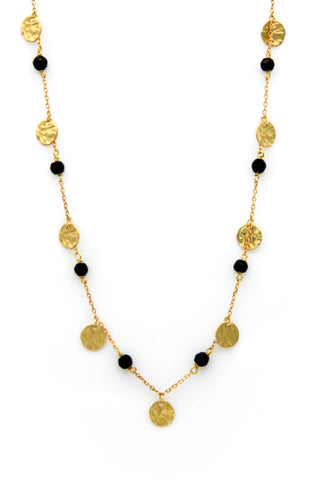"""Natural Gold Disc Choker"""