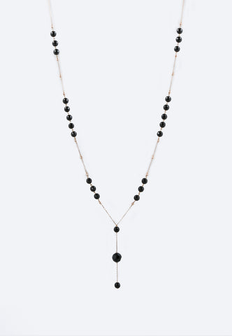 """Natural Onyx Gold Necklace"""