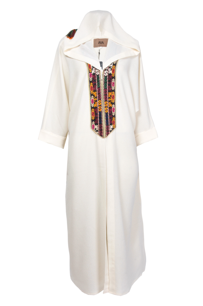 Abaya White Cross Stich