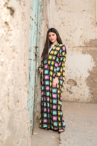 Faces Exclusive Printed Design Abaya from Spain
