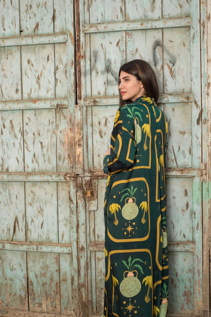 Plants Exclusive Printed Design Abaya from Spain