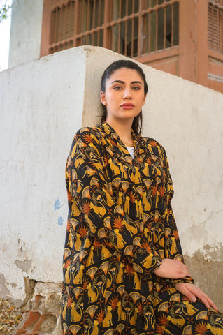 Leopard Exclusive Printed Design Abaya from Spain II