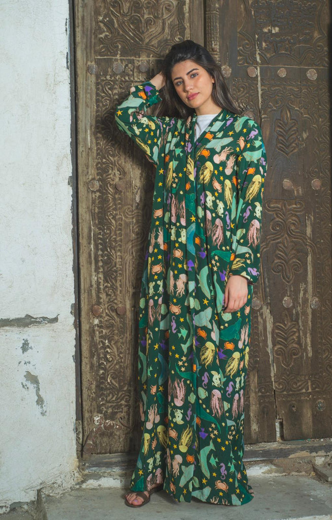 Sealife Exclusive Printed Design Abaya from Spain III