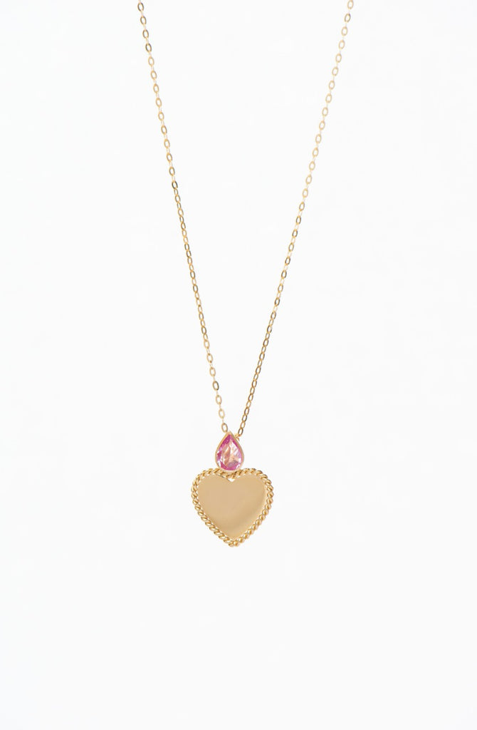 """Pink Heart Necklace"""
