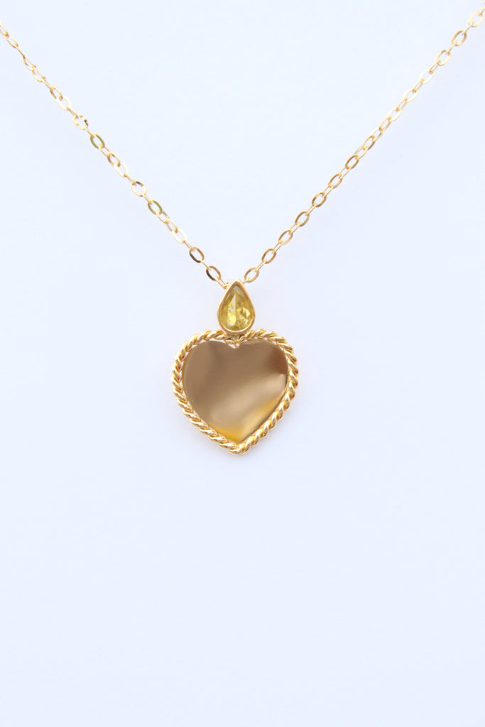 """Yellow Heart Necklace"""