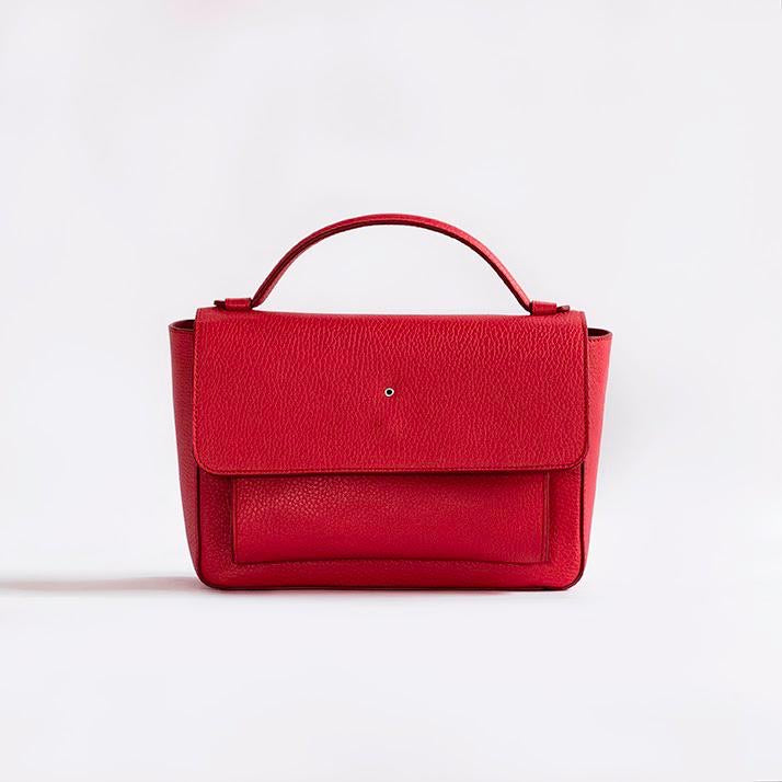 """Red One Hole Handbag"" with Free Saudi Emblem Brooch"