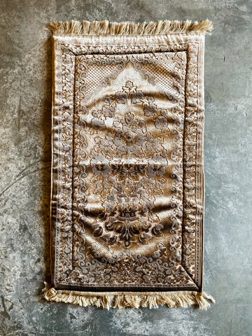 """Gold Velvet Prayer Mat"""