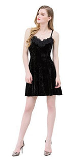 UP Ultrapink Junior Womens Woven Spaghetti Strap Lace Neck Fit and Flare Dress