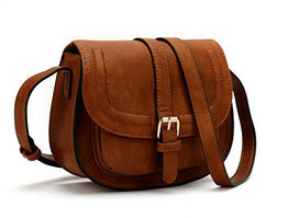 ANNA JONES Adjustable Shoulder Strap Shoulder Bags Crossbody Bags for Women Brown Color