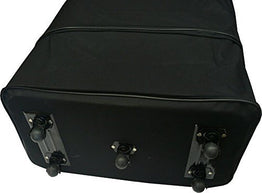 "36"" Rolling Wheeled Duffle Bag Spinner Suitcase Luggage Expandable (36 Inch, Black)"