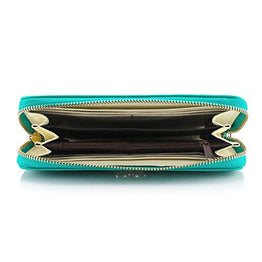 GEARONIC TM New Fashion Lady Bow-Tie Zipper Around Women Clutch Leather Long Wallet Card Holder Case Purse Handbag Bag - Light Blue