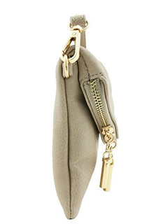Envelope Wristlet Clutch Crossbody Bag with Chain Strap (Dove)