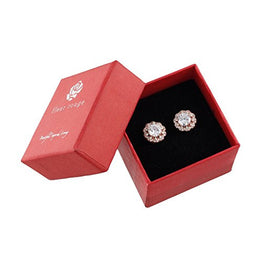 UP Ultrapink 18K Rose Gold-Plated Cluster Round Cut Stud Earrings (1.66cttw)