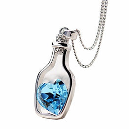 UP Ultrapink Necklace,Lisingtool New Women Fashion Necklace Love Drift Bottles (Blue)