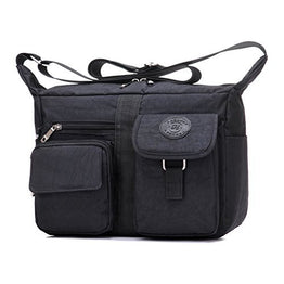 Women's Shoulder Bags Casual Handbag Travel Bag Messenger Cross Body Nylon Bags Black