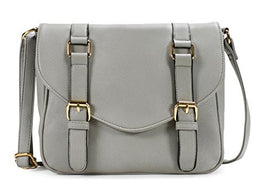 Scarleton Decorative Front Belt Crossbody Bag H172503 - Grey