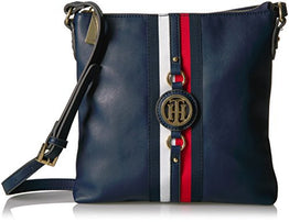 Tommy Hilfiger Jaden Crossbody Bags for Women, Tommy Navy Polyvinyl Chloride