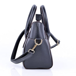 QZUnique Women's Summer Fashion Top Handle Cute Cat Cross Body Shoulder Bag Black