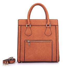 Dasein New Designer Purse Vegan Leather Smile Top Handle Satchel Handbag Tote Micro Luggage w/ Crossbody Strap
