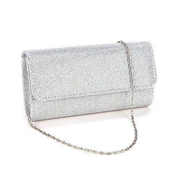 AITING Women's Evening Party Wedding Ball Prom Clutch Wallet Handbag (Silver)