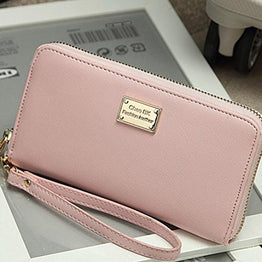 GBSELL Lady Women Wallet Purse Clutch Bag PU Leather Card Holder New Fashion (Pink),Medium,Pink
