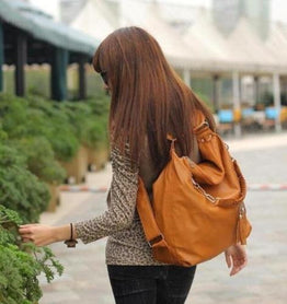 Women PU Leather CrossBody Shoulder Bag Tote Purse Satchel Messenger Handbag Color Brown