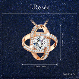 "UP Ultrapink Jewelry Sterling Silver Pendant Necklace J.Rosée Rose-gold Necklace ""Never Ever Be Apart"" Exquisite Gift Package (45cm+3)"