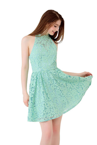 UP Ultrapink Junior Womens Allover 2 Tone Lace Dress Crochet detail Fit n Flare