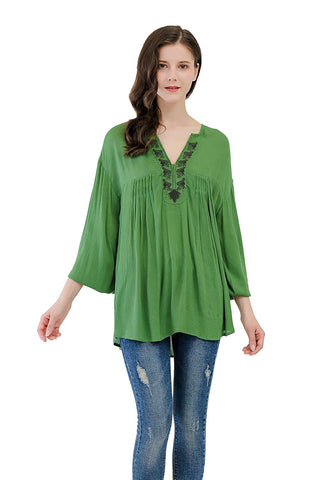 Long Sleeves Tunic With Embroidery