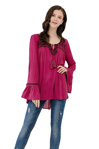 Long Sleeve Blouse Smocking