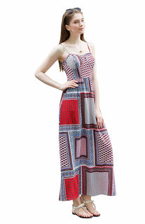 UP Ultrapink Junior Womens Woven Maxi Dress Patchwork Paisley, Bra Cups, Unlined