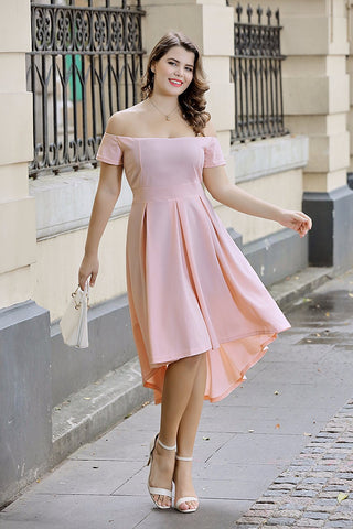 Designer Knit Off Shoulder Sheath Dress