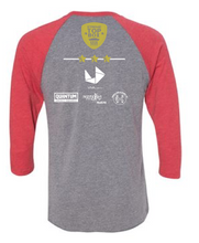Unisex Raglan / Grey/ Red Triblend